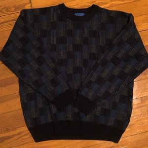 Towncraft Black & Blue Patterned Sweater